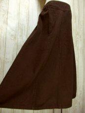 画像4: ☆ ヨーロッパ古着 濃い目のBrown Color!!無地×ウエストゴムで使い勝手抜群♪ヨーロピアンヴィンテージスカート ☆ (4)