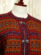 画像3: ☆ ヨーロッパ古着 暖か可愛らしい★フック式デザイン!!大人フォークロアstyleにもおすすめ♪ ヴィンテージニットカーディガン ☆ (3)