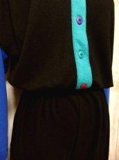 画像10: 80年代 個性的なカラーリング スウェット素材 長袖 レトロ ヨーロッパ古着 ヴィンテージオールインワン 【6198】 (10)