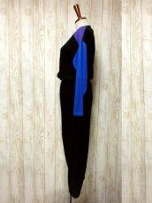 画像7: 80年代 個性的なカラーリング スウェット素材 長袖 レトロ ヨーロッパ古着 ヴィンテージオールインワン 【6198】 (7)