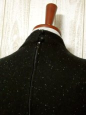 画像6: ニット ブラック 長袖 レトロ USA古着 ヴィンテージワンピース 【6227】 (6)