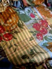 画像15: フラワー×チェック×ストライププリント ウエストキュッとスカートふんわり 大人クラシカル ディアンドル チロルワンピース ドイツ民族衣装 舞台 演奏会 フォークダンス オクトーバーフェスト 【6252】 (15)