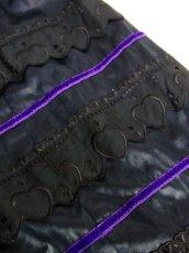 画像18: 花模様織り ブラック オーストリア製 ハートレース バルーン袖 リボンテープ サイドジッパー ガーリー クラシカル ディアンドル チロルワンピース ドイツ民族衣装 舞台 演奏会 フォークダンス オクトーバーフェスト 【6265】 (18)