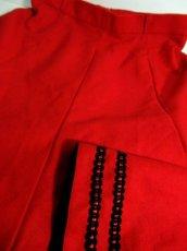 画像8: ハッと目を引くRed Collar シンプルながらもこだわりあり チロルスカート ドイツ民族衣装 舞台 演劇 演奏会 フォークダンス オクトーバーフェスト 【6287】 (8)
