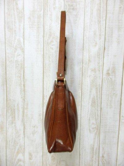 画像2: レザー ブラウン 色合いカタチが可愛い レディース レトロ ショルダー 鞄 バッグ【6279】