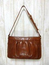 画像4: レザー ブラウン 色合いカタチが可愛い レディース レトロ ショルダー 鞄 バッグ【6279】 (4)