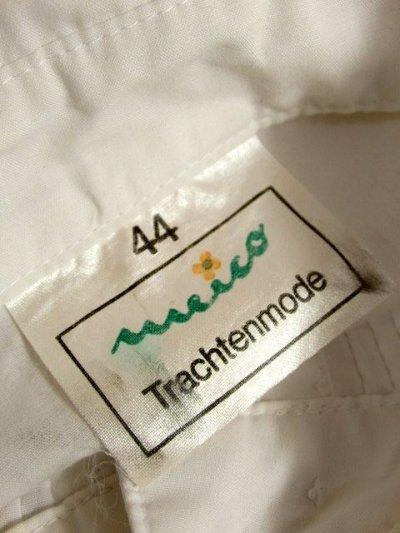 画像3: お花刺繍 カットワークレース ストライプステッチ ホワイト ディアンドル チロルブラウス ドイツ民族衣装 舞台 演奏会 フォークダンス オクトーバーフェスト【6280】