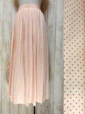 画像1: ☆ ドット柄×プリーツデザイン★レトロアンティークで上品なヴィンテージプリーツスカート ☆ (1)