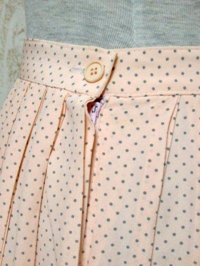 画像2: ☆ ドット柄×プリーツデザイン★レトロアンティークで上品なヴィンテージプリーツスカート ☆