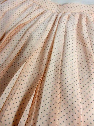 画像3: ☆ ドット柄×プリーツデザイン★レトロアンティークで上品なヴィンテージプリーツスカート ☆