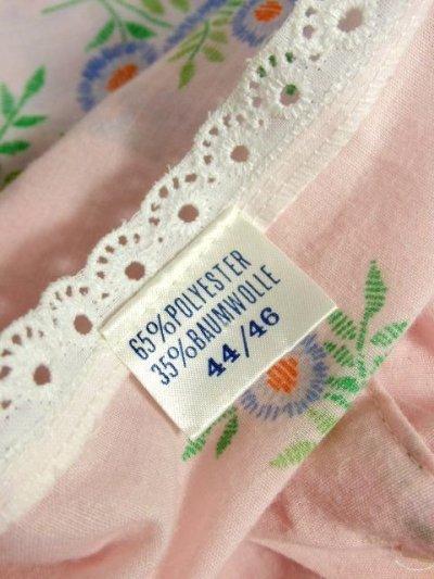 画像3: アンティークフラワープリント 淡いピンク レース装飾 レトロガーリー 長袖 ヨーロッパ古着 ヴィンテージドレス 【6331】