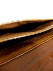 画像15: パッチワークデザイン キャメルブラウン レザー 色合い風合いが素敵 レディース レトロ ショルダー 鞄 バッグ【6343】 (15)
