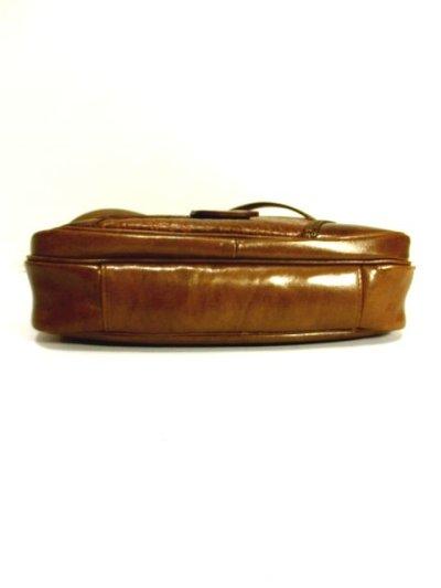 画像3: パッチワークデザイン キャメルブラウン レザー 色合い風合いが素敵 レディース レトロ ショルダー 鞄 バッグ【6343】