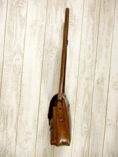 画像2: パッチワークデザイン キャメルブラウン レザー 色合い風合いが素敵 レディース レトロ ショルダー 鞄 バッグ【6343】