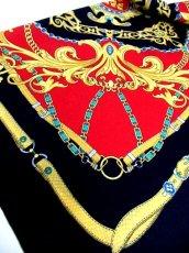 画像6: レトロアンティーク ヴィンテージスカーフ イタリア製【6367】 (6)