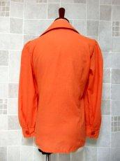 画像5: ワンポイントお花刺繍が素敵 Orange Collar レトロフォークロア ヨーロッパ古着 ヴィンテージ刺繍ブラウス【6372】 (5)