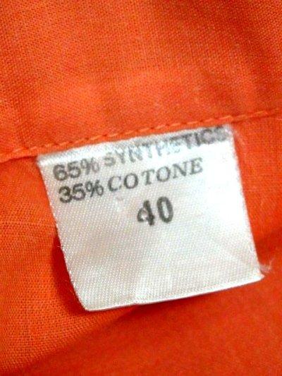 画像3: ワンポイントお花刺繍が素敵 Orange Collar レトロフォークロア ヨーロッパ古着 ヴィンテージ刺繍ブラウス【6372】