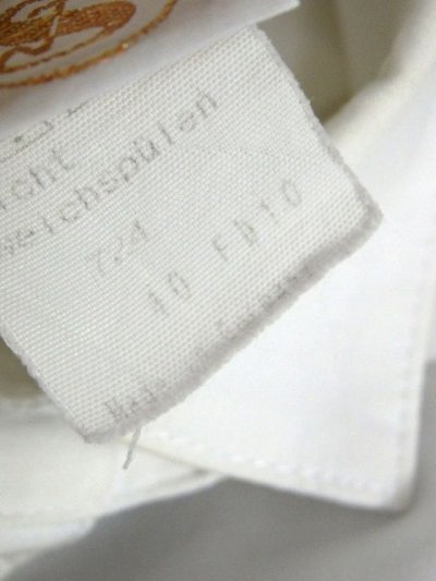 画像3: ドイツ製 バタフライ刺繍  お花刺繍 チェック リボンパッチ カラフル配色 ヨーロッパ古着 ヴィンテージホワイトブラウス【6378】