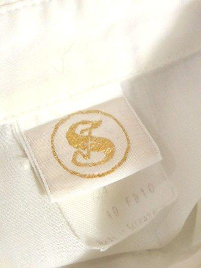 画像2: ドイツ製 バタフライ刺繍  お花刺繍 チェック リボンパッチ カラフル配色 ヨーロッパ古着 ヴィンテージホワイトブラウス【6378】
