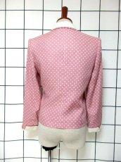 画像5: ☆ Pink×White Collar★大人Dot×カタチが可愛い♪レトロガーリーな70'sヴィンテージジャケット ☆ (5)