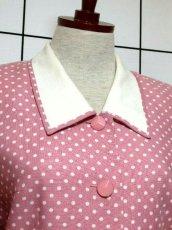 画像3: ☆ Pink×White Collar★大人Dot×カタチが可愛い♪レトロガーリーな70'sヴィンテージジャケット ☆ (3)
