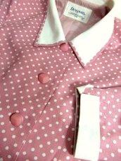 画像9: ☆ Pink×White Collar★大人Dot×カタチが可愛い♪レトロガーリーな70'sヴィンテージジャケット ☆ (9)