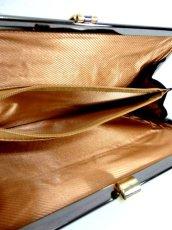 画像8: パーティースタイル レザー ダークグレー 上品大人クラシカル レディース レトロ クラッチ 鞄 バッグ【6394】 (8)