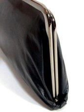 画像4: パーティースタイル レザー ダークグレー 上品大人クラシカル レディース レトロ クラッチ 鞄 バッグ【6394】 (4)