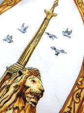 画像15: レトロアンティーク ヴィンテージスカーフ イギリス風景画×馬車柄【6458】 (15)
