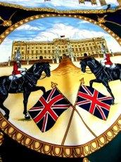 画像5: レトロアンティーク ヴィンテージスカーフ イギリス風景画×馬車柄【6458】 (5)