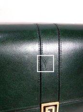 画像12: 深めのグリーン レザー レディース レトロ クラッチ 鞄 バッグ【6476】 (12)