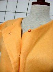画像7: 刺繍装飾 内ボタンデザイン  レトロ 国産古着 半袖 シャツ ヴィンテージブラウス【6485】 (7)