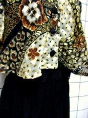画像10: フロントレイヤードデザイン ベルトセット 個性的 半袖 レトロ USA古着 ヴィンテージオールインワン【6496】 (10)