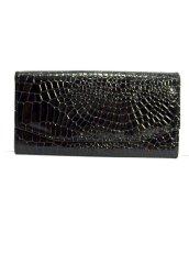 画像2: ブラック レディース レトロ 財布 ウォレット【6510】 (2)