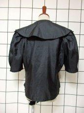 画像5: 大きな襟 カットワークデザイン ブラック パフスリーブクラシカル ディアンドル チロルブラウス ドイツ民族衣装 舞台 演奏会 フォークダンス オクトーバーフェスト 【6517】 (5)