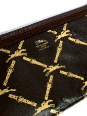 画像17: 巾着型 フランス製 レザー ダークブラウン レディース ヴィンテージ ショルダー 鞄 バッグ【6547】 (17)