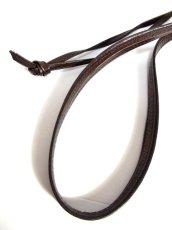 画像11: 巾着型 フランス製 レザー ダークブラウン レディース ヴィンテージ ショルダー 鞄 バッグ【6547】 (11)