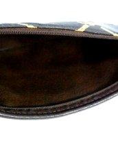 画像18: 巾着型 フランス製 レザー ダークブラウン レディース ヴィンテージ ショルダー 鞄 バッグ【6547】 (18)