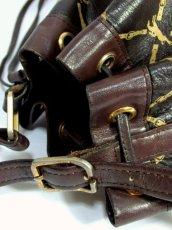 画像9: 巾着型 フランス製 レザー ダークブラウン レディース ヴィンテージ ショルダー 鞄 バッグ【6547】 (9)