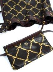 画像20: 巾着型 フランス製 レザー ダークブラウン レディース ヴィンテージ ショルダー 鞄 バッグ【6547】 (20)