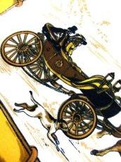画像13: レトロアンティーク ヴィンテージスカーフ 馬車 人物 犬 チェーン 風景柄【6565】 (13)
