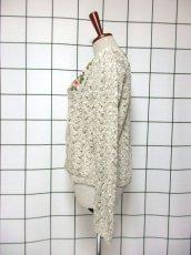 画像7: ヨーロッパ古着 チロルニットカーディガン 花模様編み コットン×アクリル フォークロア (7)