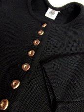画像6: チロルニットカーディガン ブラック ウール ウッド調ボタン フォークロア ヨーロッパ古着 (6)