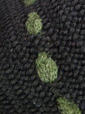 画像9: ブラック コンチョボタン フォークロア レトロ ヨーロッパ古着 チロルニットカーディガン【6637】 (9)
