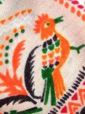 画像8: ヴィンテージブラウス 鳥柄 花柄 リーフ柄 70's レトロ 長袖 (8)