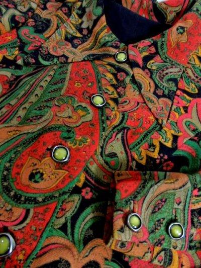 画像3: 70年代 花柄 長袖 昭和レトロ 国産古着 レトロワンピース  【6644】