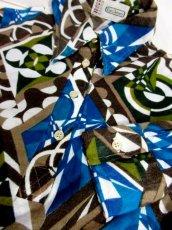 画像6: 幾何学模様 レトロモダン ヨーロッパ古着 長袖 シャツ ヴィンテージトップス 【6659】 (6)
