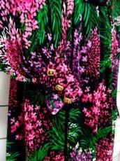 画像8: 70's 花柄 ベルト付き シルエット綺麗 レトロ レディース 長袖 昭和レトロ 国産古着  ヴィンテージドレスワンピース【6666】 (8)