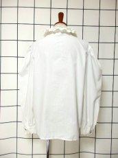 画像5: 刺繍 ダブルレース襟 ホワイト チロルブラウス ドイツ民族衣装 舞台 演奏会 フォークダンス オクトーバーフェスト 【6670】  (5)