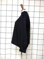 画像8: お花刺繍カットワークレース スパンコール ビーズ ブラック レトロクラシカル ヨーロッパ古着 長袖 ヴィンテージブラウス【6669】 (8)